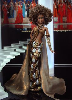 Barbie Miss Chad 2011 Fashion Royalty Dolls, Fashion Dolls, Jean Paul Gaultier, Manequin, Barbie Miss, Diva Dolls, Pelo Natural, African American Dolls, Beautiful Barbie Dolls