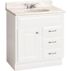 "ESTATE by RSI 30"" White Elegance Traditional Bath Vanity"