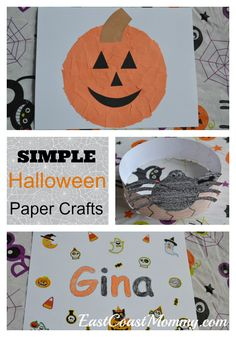 Halloween Paper Crafts with template.