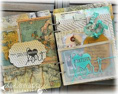 LOVE this amazing mini, although the Heidi Swapp name is featured as her fab line used. It was created by the fab Jamie Pate. You HAVE to go see the rest, really you do!! @jami