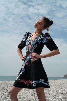The Temperley London Winter '16 Sailor Flared Dress