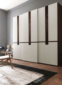Check Out 35 Modern Wardrobe Furniture Designs. Wardrobe closets are a wonderful addition to any modern and contemporary bedroom or guest room. They were quite popular during our parent's youth and are now making a comeback in homes today. Armoire Design, Bedroom Cupboard Designs, Bedroom Cupboards, Small Bedroom Designs, Modern Bedroom Design, Modern Door Design, Modern Room, Sliding Door Wardrobe Designs, Sliding Door Design