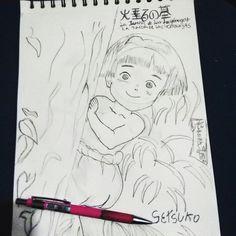 #Setsuko#sketch #Dibujo #NoctambuloQueC #lapiz zurdomicho #Anime #Hermanita #Setsuko #HatarunoHaka #Dir #IsaoTakahata #Movie  #latumbadelasluciernagas  mi #pelicula de #animación  #Japonesa #Favorita #LaMejor  #SemanaDiadelZurdo