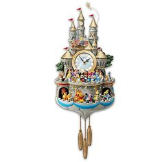 From unforgettable characters to enchanting stories, the magic of Disney is timeless. Now, fill each hour with 43 of your favourite Disney characters bringing every moment to life in the Disney 'Timeless Magic' Cuckoo Clock, a proudly Bradford Exchange Disney, Disney Collection, Tabletop Christmas Tree, Christmas Decorations, Christmas Ornaments, Arte Disney, Disney Beauty And The Beast, Thomas Kinkade, Light Music