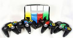 Limited Edition Super Smash Bros. N64 Console with 4 Custom Controllers!