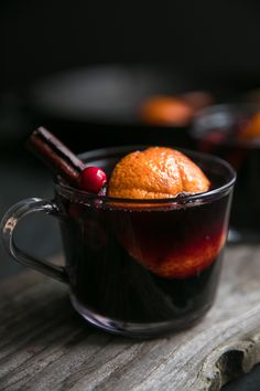 Spiced Mulled Wine with Blackberries