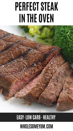 How To Cook Top Sirloin Steak In The Oven - How to cook top sirloin steak in the oven I m sharing my fool-proof method for an EASY DELICIOUS top sirloin steak recipe everyone will love wholesomeyum lowcarb dinner steak easy # Good Steak Recipes, Roast Recipes, Oven Recipes, Baked Steak Recipes, Recipes Dinner, Paleo Recipes, Sirloin Steak Recipes Oven, Barbecue, Meat Recipes