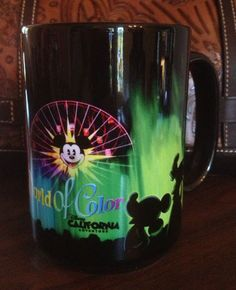Disney World of Color Mug from the cool laser light show at California Adventure. Very colorful mug. $28