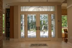 Contemporary Stained Glass Entry