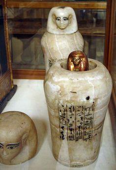 Vase canope sous la protection de Qebehsenouf Tutankhamon by Orisnet.net