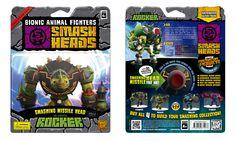 "Smash Heads toybox ""Rocker"" front/back"
