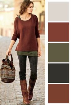 ősz színtípus színei Source by gundagier clothes - autumn fashion Colour Combinations Fashion, Color Combinations For Clothes, Fashion Colours, Colorful Fashion, Color Combos, Color Trends, Mode Outfits, Winter Outfits, Casual Outfits