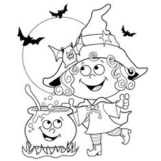 24 Free Halloween Printable Coloring Pages For Kids