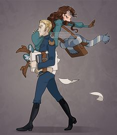Whimsical illustrations by Miss Holly Draco And Hermione, Draco Malfoy, Scorpius Rose, Dramione Fan Art, Character Art, Character Design, Fanart, Book Aesthetic, Cute Anime Couples