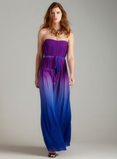 Nicole Miller - Ombre strapless gown