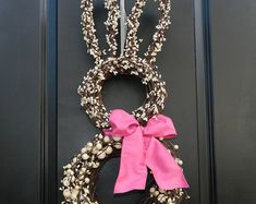 Reserved for Patricia Bunny Wreath Easter Swag by BaBamWreaths
