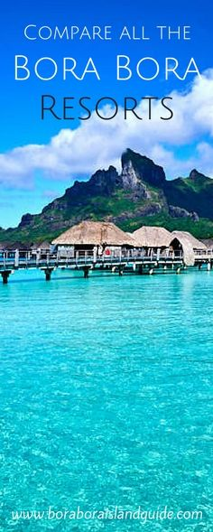 Here are the highlights of the amazing Bora Bora resorts to help you decide where to stay on your Bora Bora vacation Bora Bora Resorts, Water Bungalow, Romantic Night, South Pacific, French Polynesia, Beautiful Islands, Tahiti, Ocean, Vacation