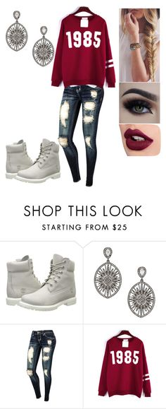 """328"" by rhay-q ❤ liked on Polyvore featuring Timberland and Adriana Orsini"