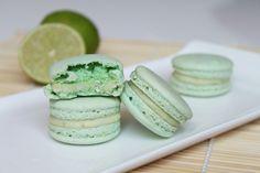Surprises et gourmandises - Macaron au citron vert