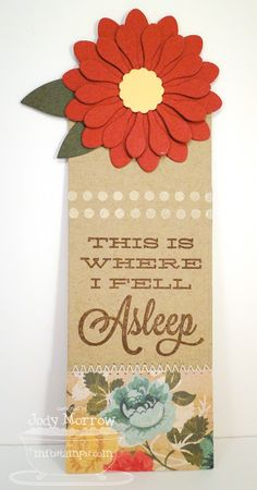 8/7/2012; Jody Morrow at 'Confessions of a Ribbon Addict' blog; MFT Bookmark Duo stamp set and die