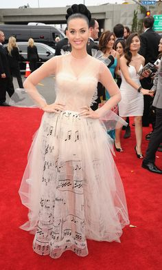 I was hoping someone would wear this Valentino dress to the Grammys and Katy Perry did!