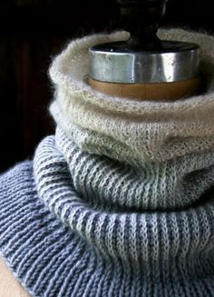 It's become more than evident to me that I cannot get enough of 1) neutrals and 2) cowls. First came the White Caps Cowl, a play of textures in soft creams; next theShawl Collar Cowl, like a folded cloud; then the Salt + Pepper Cowl, a blend of crisp heathery fibers; and now, the latest addition to this mini-collection, the Ombre Cowl! This Ombre Cowl explores the complexity of subtle shifts in shade and texture by combining three yarns of differing weights and fibers. Jade Sapphire's…
