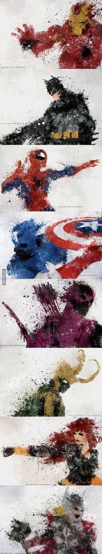 Awesome Splatter images of Avengers