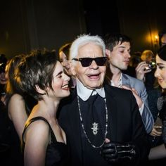 April 1, 2015 - Karl Lagerfeld & Lily Collins @ CHANEL Paris-Salzburg Metiers d'Art Collection Showcase in New York | SENATUS