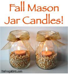 Fall Mason Jar Candles