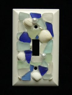 Shades of the Sea Sea Glass Switch Plate Beach by oceansbounty, $15.00