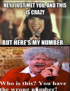 You have the wrong number! I remember this from The Amanda Show!!!