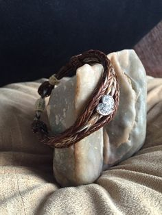 Horse hair bracelet, hand braided with magnetic clasp fits 7 1/2 to 8 inch wrist. Easy on-off magnetic clasp Genuine horsehair AU$60.18 Etsy