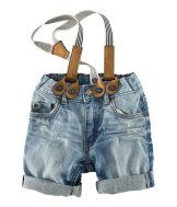 So these are little boy shorts but I think a little girl would be adorable in suspender shorts! $14.95 H