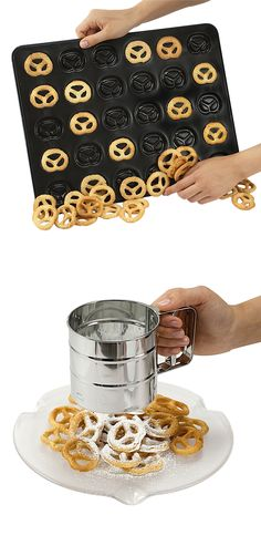 Mini pretzel non-stick baking pan! Cool Kitchen Gadgets, New Gadgets, Gadgets And Gizmos, Kitchen Items, Cool Kitchens, Kitchen Tools, Kitchen Stuff, Kitchen Hacks, Baking Gadgets