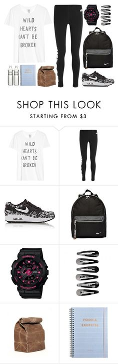 """""""Last Gym Class before Spring Break"""" by zzeelleestyles ❤ liked on Polyvore featuring Zoe Karssen, NIKE, G-Shock and Dot & Bo"""