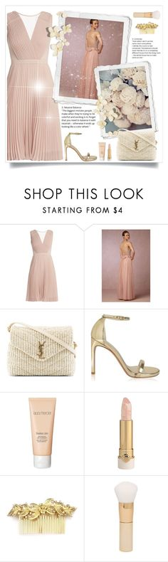 """Untitled #599"" by beautifulplace ❤ liked on Polyvore featuring Anthropologie, Yves Saint Laurent, Stuart Weitzman, Laura Mercier and Forever 21"