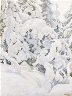 Wintry Landscape By Pekka Halonen ,1912 -  1916