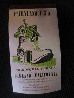 Vintage FAIRYLAND U.S.A. Old Woman's Shoe kitschy by kookykitsch, $10.00