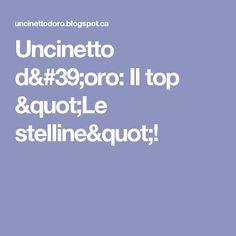 """Uncinetto d'oro: Il top """"Le stelline""""!"""