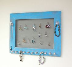 Distress Finish Wood Jewelry Holder Organizer for by onthewallusa, $39.00