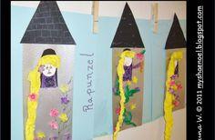 Learn and Grow Designs Website: Rapunzel Children's Art Craft and Rapunzel Book List