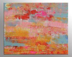 Original arte abstracto gran textura pintura arte por ARTbyKirsten