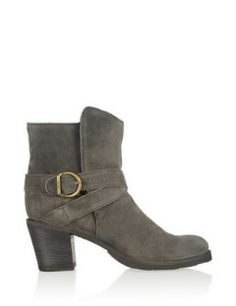 FIORENTINI + BAKER Nubis Shearling-Lined Suede Ankle Boots