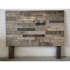 Reclaimed Recycled Wood Dark Espresso Headboard Head Board King Queen... ($195) ❤ liked on Polyvore featuring home, furniture, beds, bedroom furniture, beds & headboards, grey, home & living, cal king bed, grey king bed and twin headboards