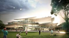 New National Gallery and Ludwig Museum in Budapest proposal by Sanaa