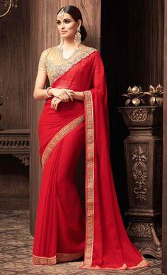 New Indian Pakistani Fancy Saree Bollywood Designer Ethnic Party Wear Sari Red Saree, Bollywood Saree, Indian Bollywood, Bollywood Fashion, Maroon Saree, Orange Saree, Chiffon Saree, Silk Sarees, Satin Saree