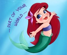 Ariel by artistsncoffeeshops. This is a younger version of Ariel from the animated Disney movie The Little Mermaid Cute Disney Drawings, Disney Princess Drawings, Disney Princess Ariel, Little Princess, Ariel Bebe, Baby Ariel, Ariel Cartoon, Mermaid Cartoon, Disney Little Mermaids