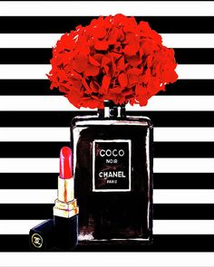 Chanel Poster Chanel Print Chanel Perfume Print Chanel With Red Hydragenia 3 Greeting Card for Sale by Del Art - Chanel Print Greeting Card featuring the painting Chanel Poster Chanel Print Chanel Perfume Print C - Art Chanel, Perfume Chanel, Chanel Wall Art, Chanel Print, Pink Perfume, Chanel Logo, Coco Chanel Wallpaper, Chanel Wallpapers, Cute Wallpapers