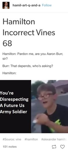 Yo-you're did-disrespecting a future. future US army solider! Theatre Nerds, Musical Theatre, Funny Memes, Hilarious, Jokes, Women's History, Modern History, Ancient History, Autobiography Writing
