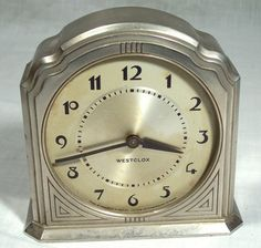 ART DECO WESTCLOX SLEEP-METER ALARM CLOCK RD. 1932 MADE IN CANADA